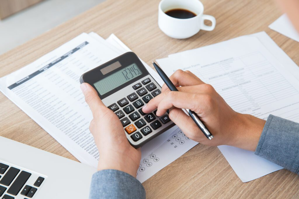 Finance Accounting Paper Desk Using